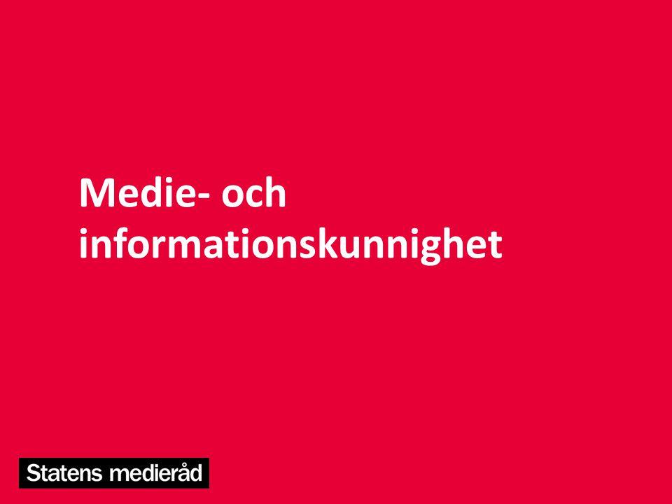 Medie- och informationskunnighet