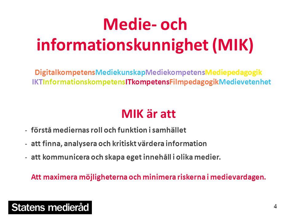 Medie- och informationskunnighet (MIK) DigitalkompetensMediekunskapMediekompetensMediepedagogik IKTInformationskompetensITkompetensFilmpedagogikMediev