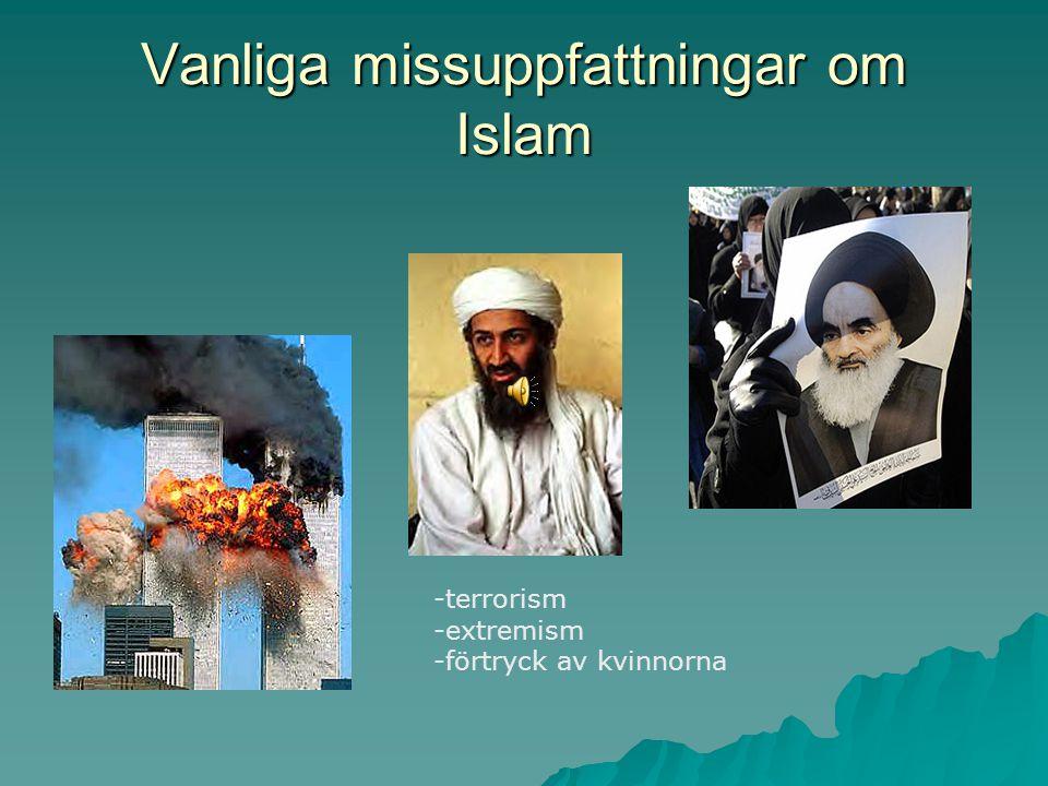 Vanliga missuppfattningar om Islam -terrorism -extremism -förtryck av kvinnorna