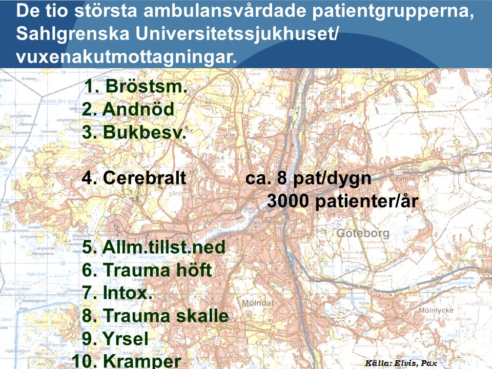2009-06-04 Presentation Hjärnvägen - SÄS Ingela Wennman, VO Ambulans Per-Olof Hansson Strokeenheten SU/Ö Mats kihlgren VO Ambulans De tio största ambu