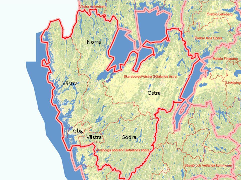 Södra Östra Norra Västra Gbg Västra
