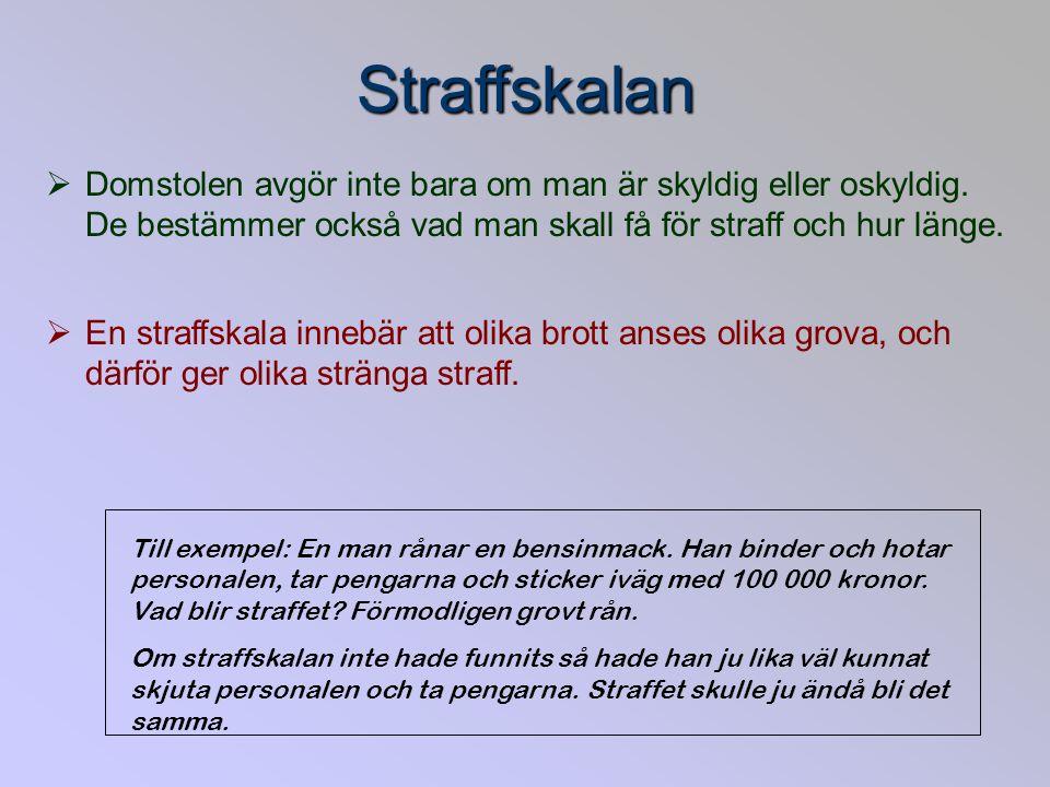 Sverige – ett rättssamhälle Alla är lika inför lagen – ingen är på grund av makt, ekonomi, kön eller sexuell läggning undantagen lagen och alla skall