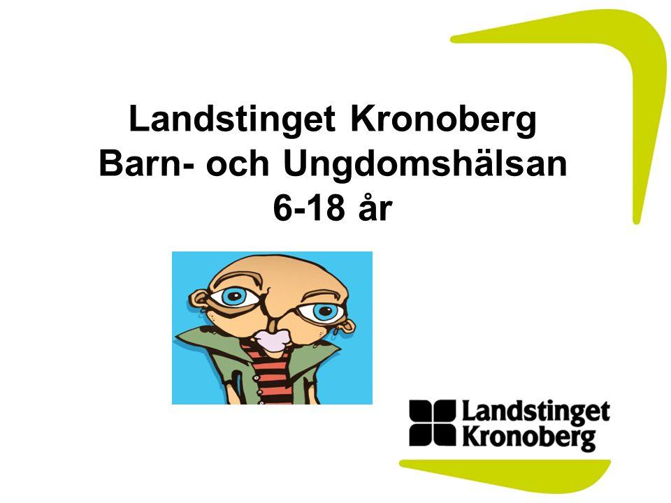 Kronobergs Län 186 160 invånarna, varav ca 27000 i ålder 6-18 år •Kronobergs län