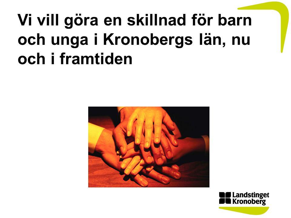 Vi vill göra en skillnad för barn och unga i Kronobergs län, nu och i framtiden