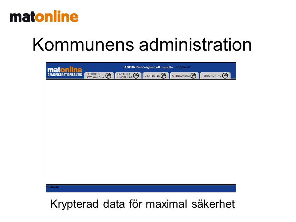 Kommunens administration Krypterad data för maximal säkerhet