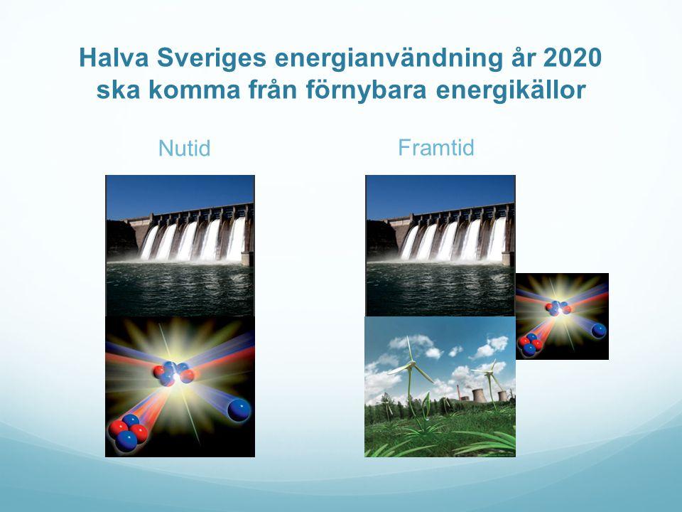 Halva Sveriges energianvändning år 2020 ska komma från förnybara energikällor Nutid Framtid