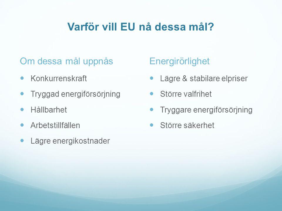 Varför vill EU nå dessa mål.