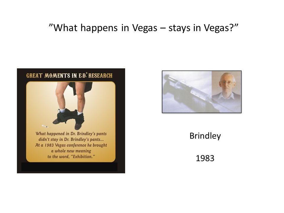 """Brindley 1983 """"What happens in Vegas – stays in Vegas?"""""""