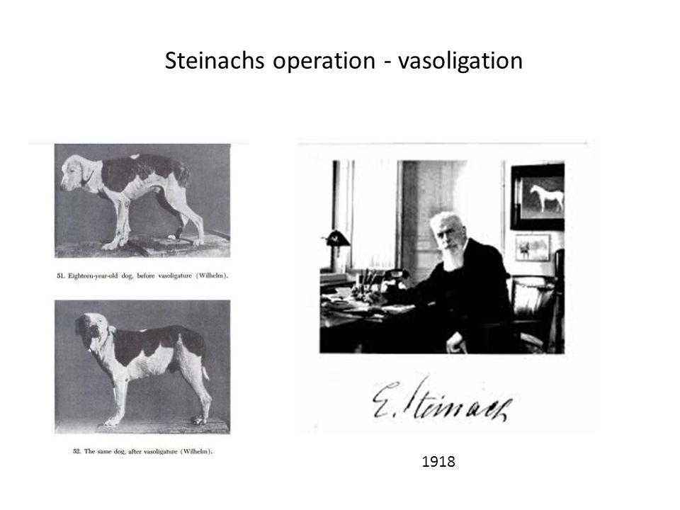 Steinachs operation - vasoligation 1918