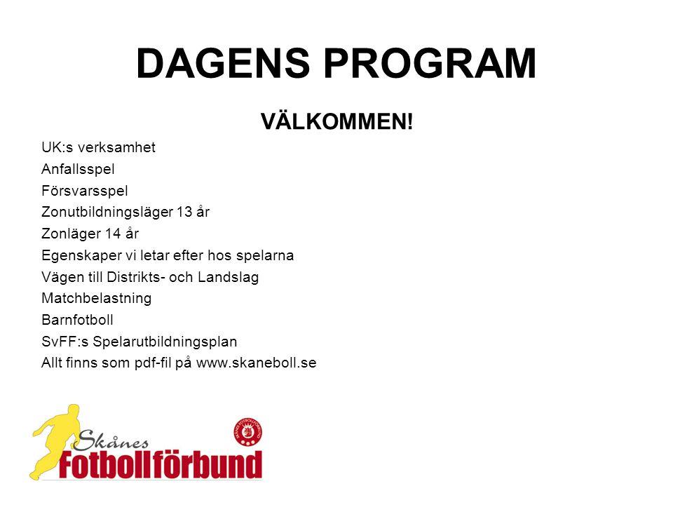 DAGENS PROGRAM VÄLKOMMEN.