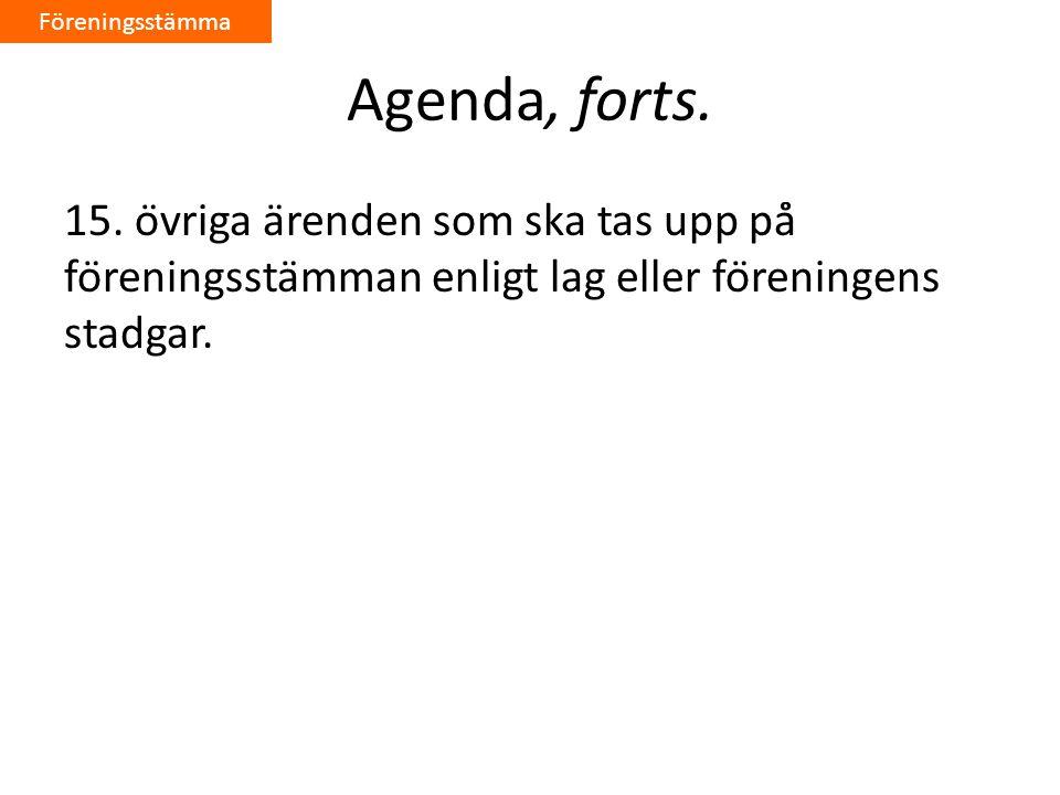 Agenda, forts.15.