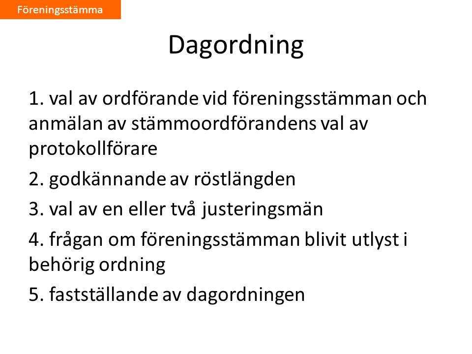 Dagordning 1.