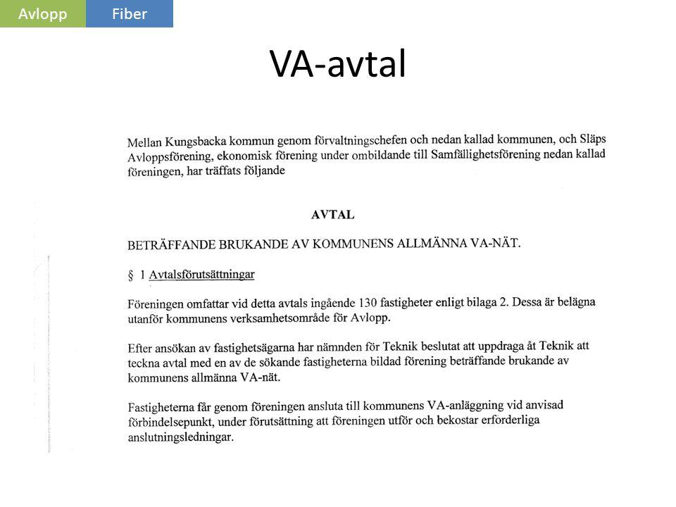 VA-avtal AvloppFiber
