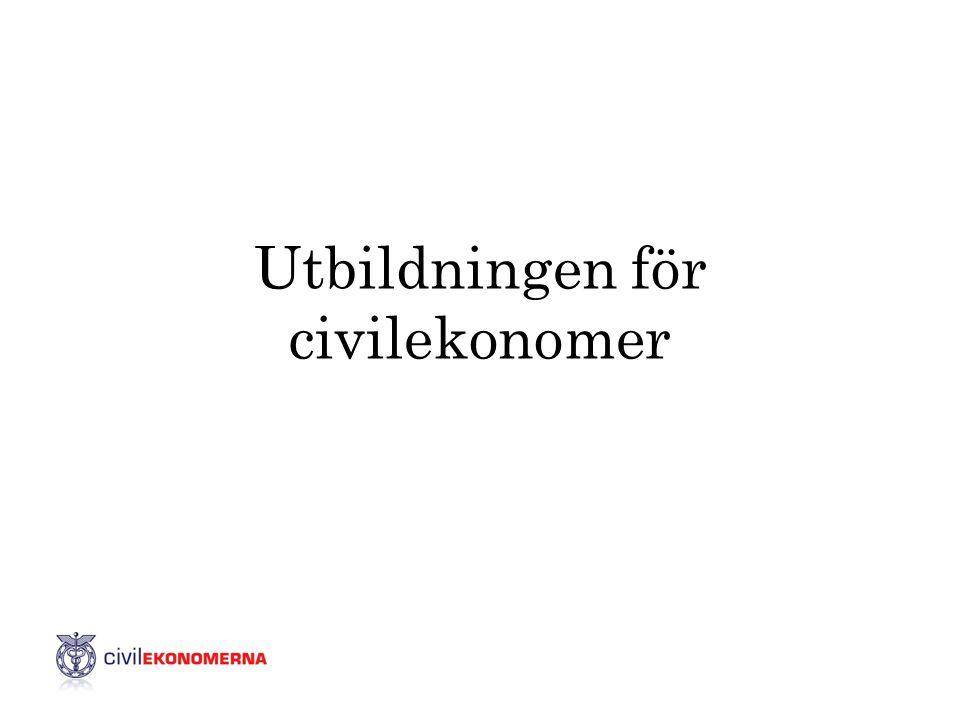 Utbildningen för civilekonomer
