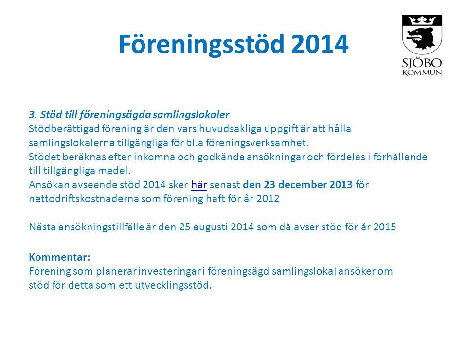 Föreningsstöd 2014 3.