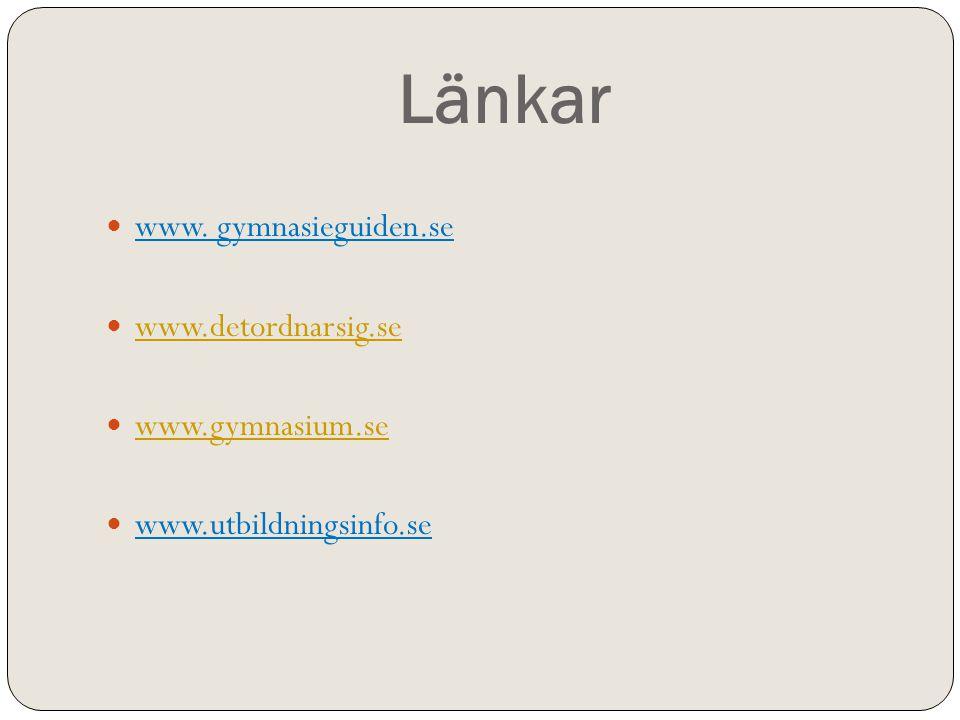Länkar  www.