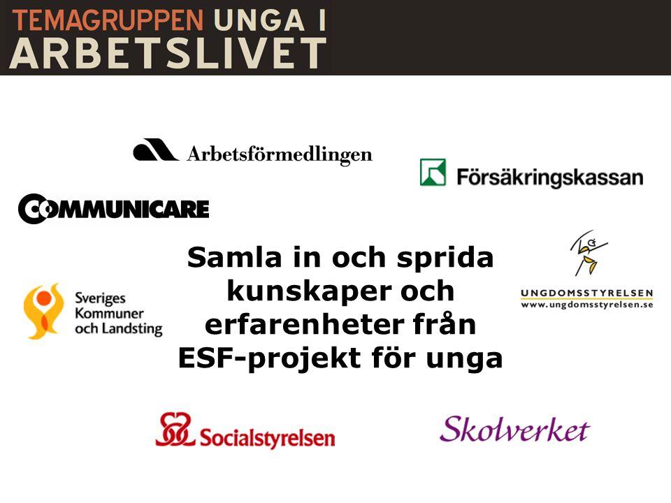 Övre Norrland 13 % Mellersta Norrland 9 % Norra Mellansverige 9 % Östra Mellansverige 10 % Stockholm 5% Västsverige 22 % Småland och öarna 17% Sydsverige 14% Mellanregionala 1% Ungdomsprojekt 2007–2011