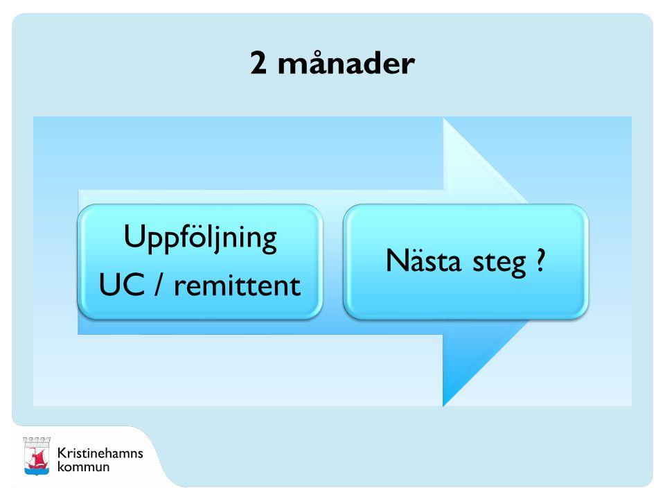 Uppföljning UC / remittent Nästa steg 2 månader