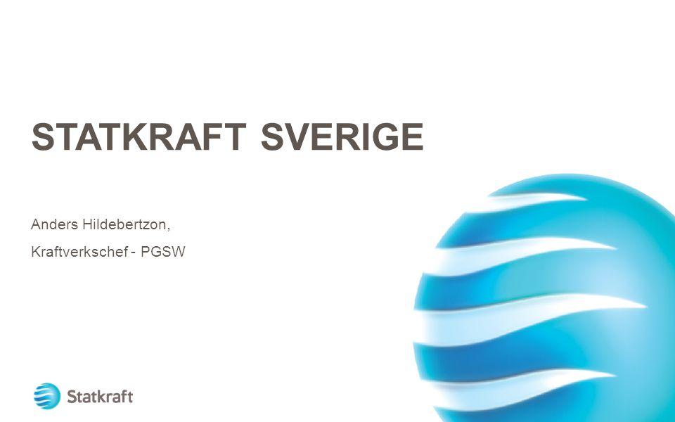 STATKRAFT SVERIGE Anders Hildebertzon, Kraftverkschef - PGSW