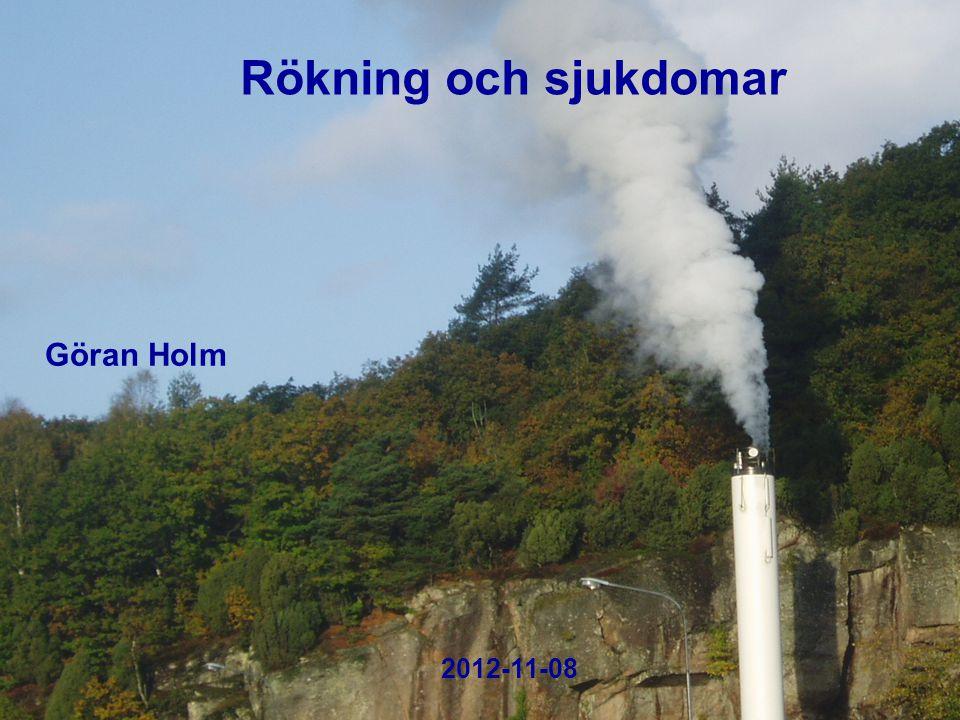 2004-10-18 Rökning och sjukdomar 2012-11-08 Göran Holm
