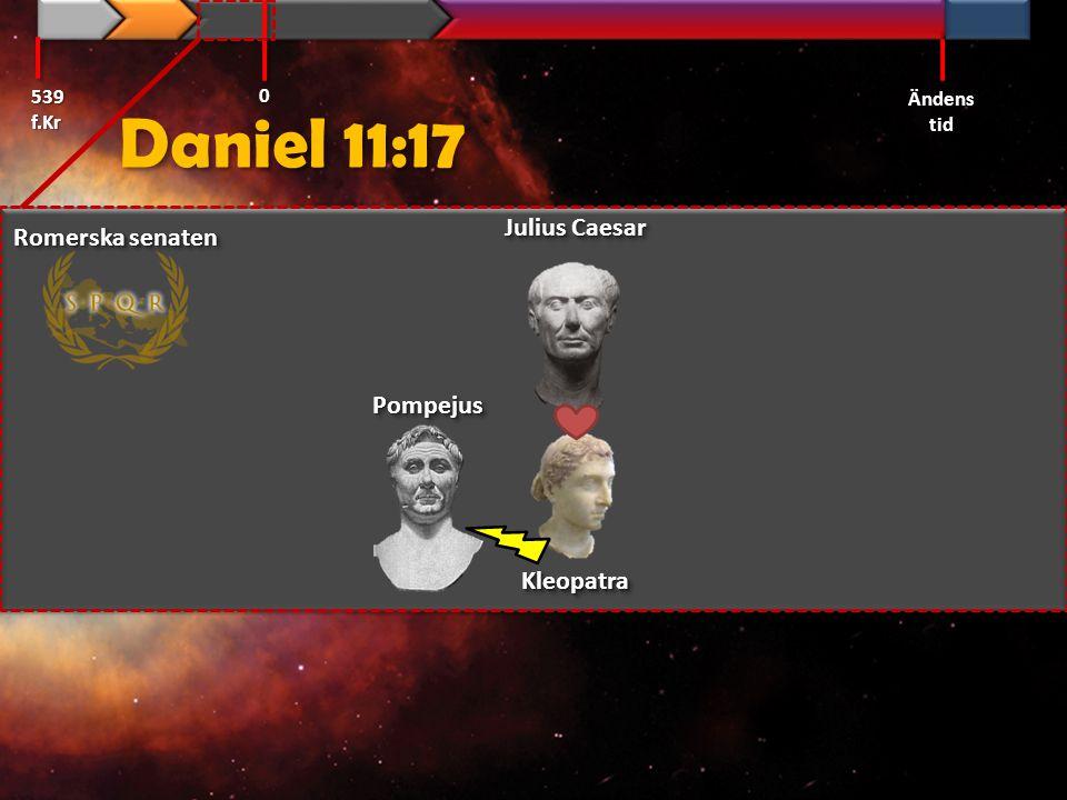 Daniel 11:17 539 f.Kr Ändens tid 0 PompejusPompejus Romerska senaten Julius Caesar KleopatraKleopatra