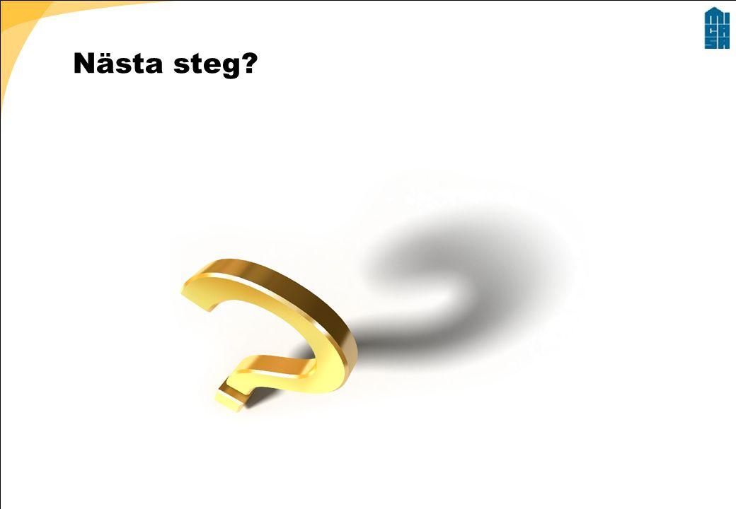 Nästa steg?