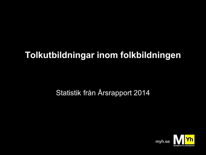myh.se Tolkutbildningar inom folkbildningen Statistik från Årsrapport 2014