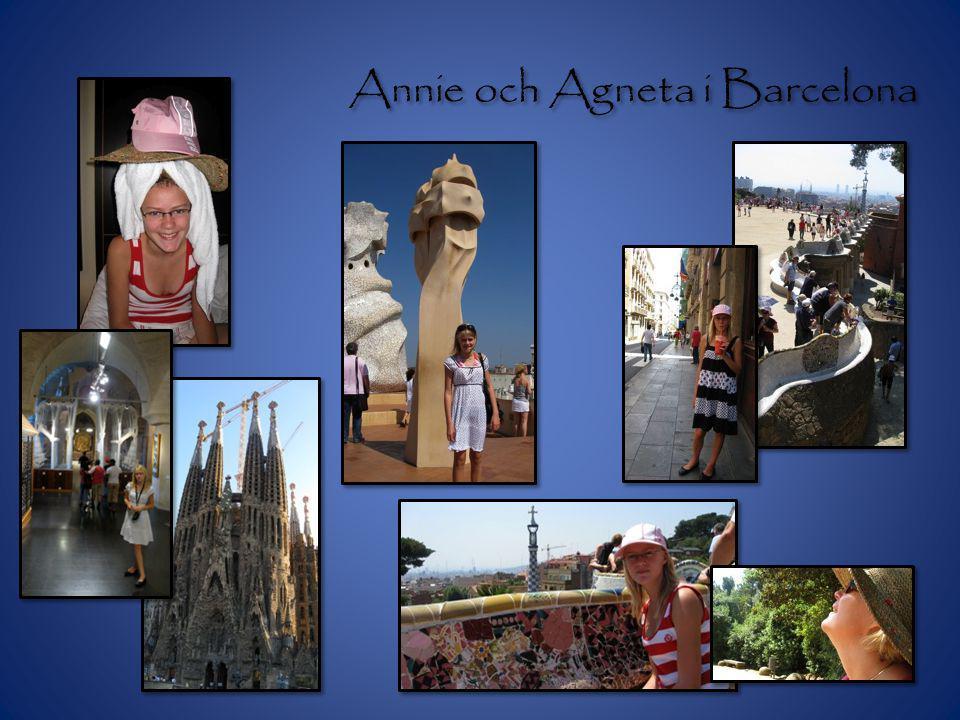 Annie och Agneta i Barcelona