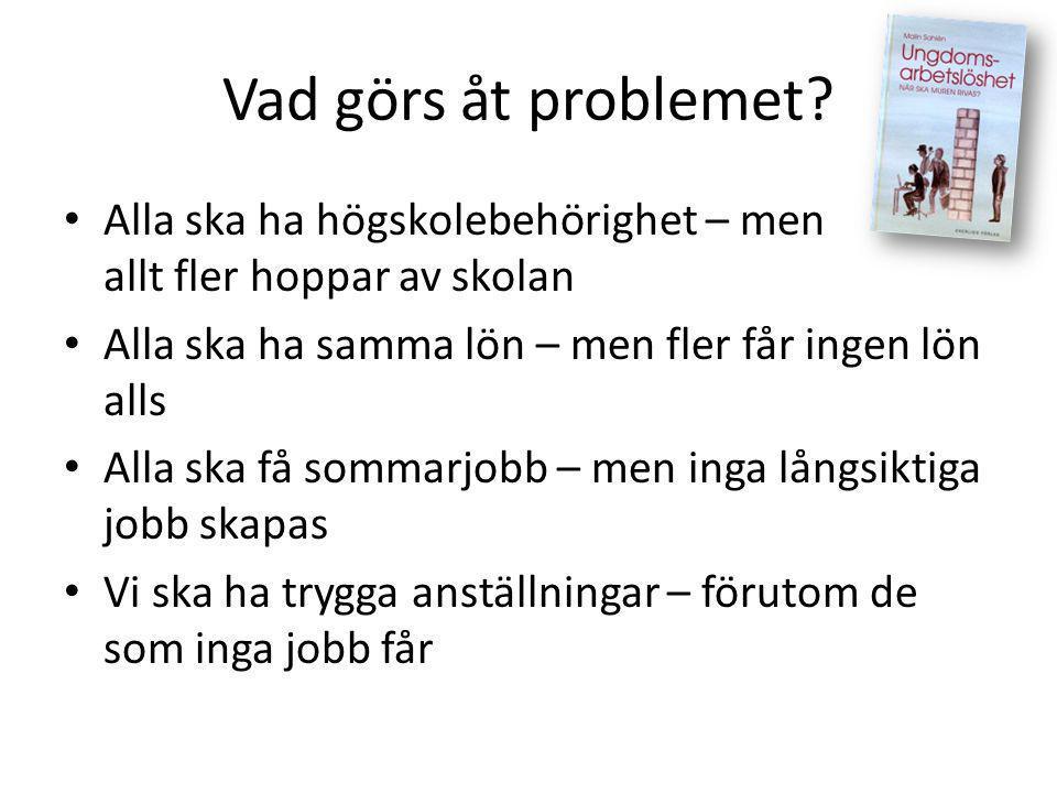 Vad görs åt problemet.