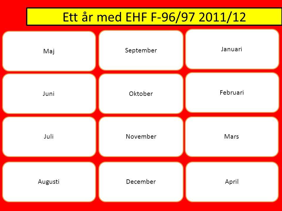 Ett år med EHF F-96/97 2011/12 Maj Juni Juli AugustiApril November Oktober September Mars Februari Januari December