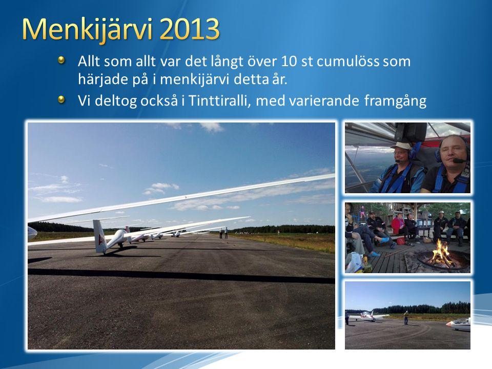 Allt som allt var det långt över 10 st cumulöss som härjade på i menkijärvi detta år. Vi deltog också i Tinttiralli, med varierande framgång
