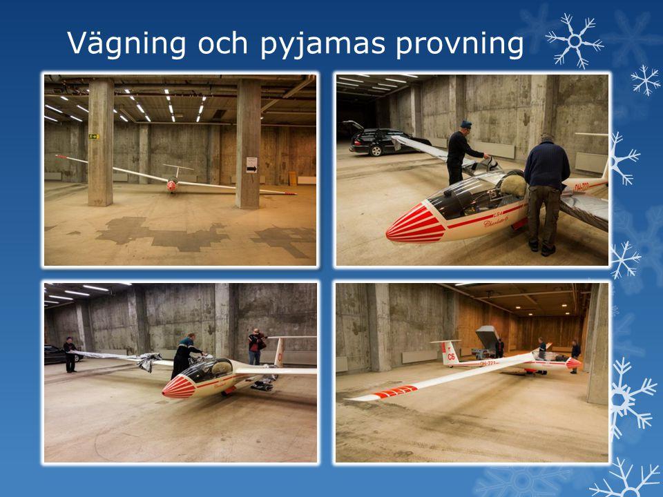 Vägning och pyjamas provning