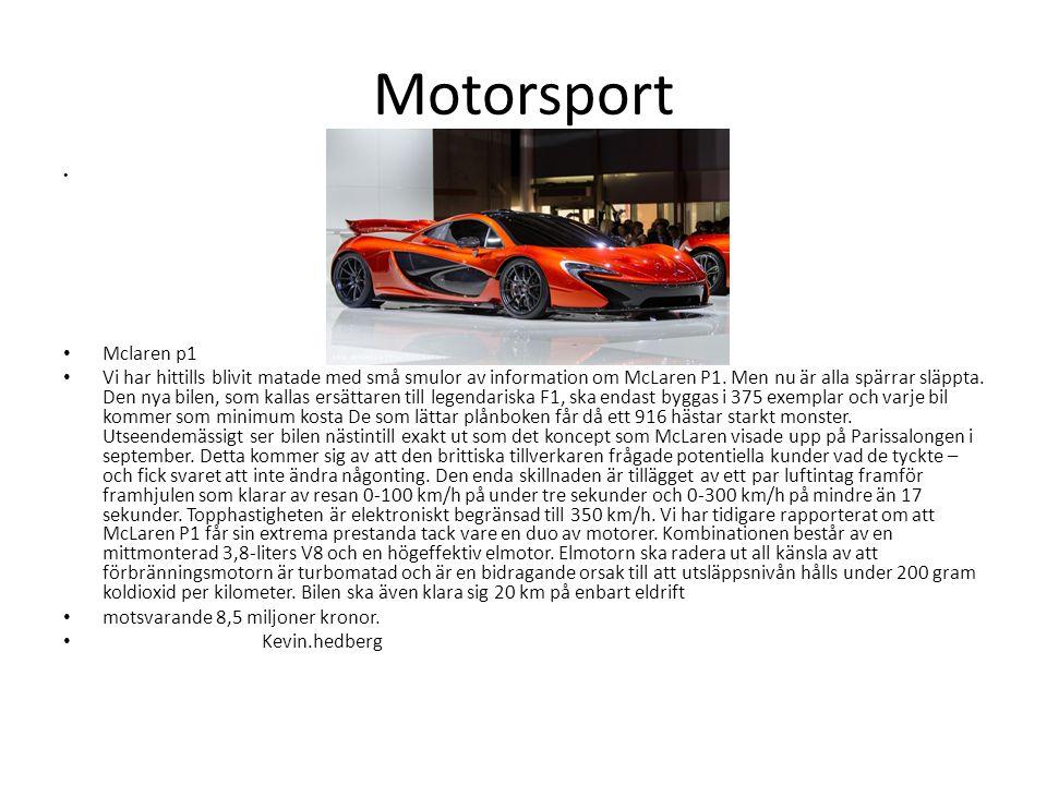 Motorsport • • Mclaren p1 • Vi har hittills blivit matade med små smulor av information om McLaren P1. Men nu är alla spärrar släppta. Den nya bilen,