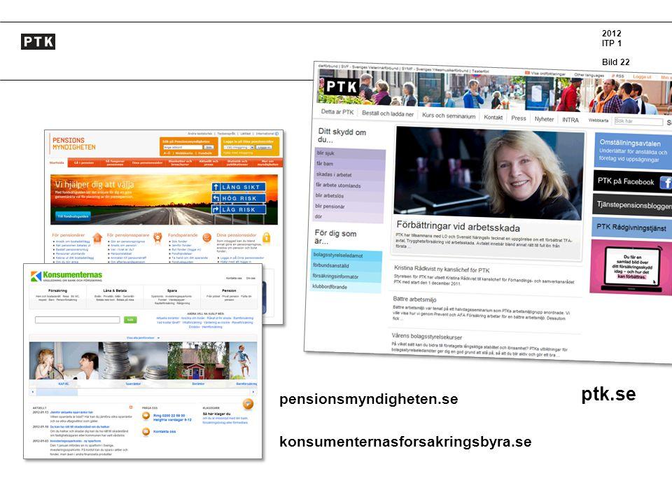 2012 ITP 1 Bild 22 K konsumenternasforsakringsbyra.se ptk.se pensionsmyndigheten.se