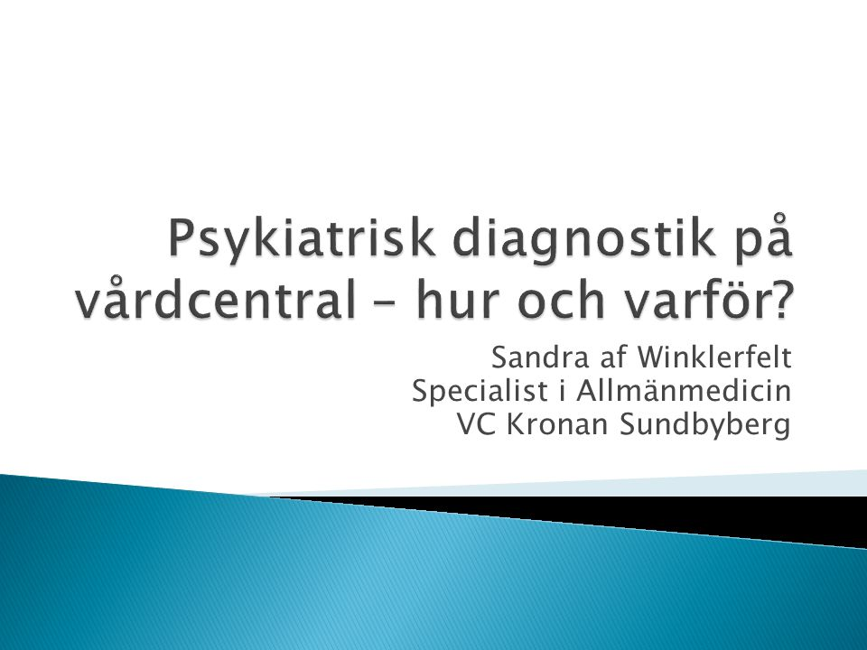 Sandra af Winklerfelt Specialist i Allmänmedicin VC Kronan Sundbyberg