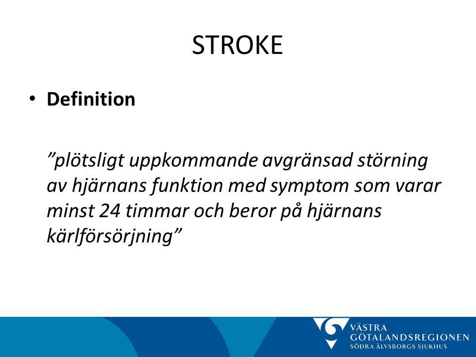 STROKE • Om rehabilitering – Tidig hemrehabilitering Hälso-och sjukvården kan skriva ut strokepatienter med milda till måttliga symtom från sjukhuset tidigare under förutsättning att patienten får rehabilitering i hemmet av ett multidisciplinärt rehabiliteringsteam med kunskap om strokesjukvård (prioritet 3). socialstyrelsen