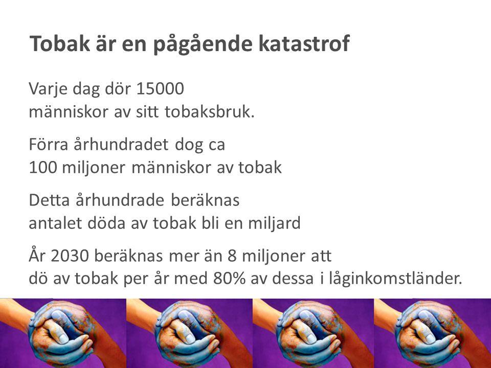 Fler än 6 400 människor dör varje år i Sverige p.g.a.