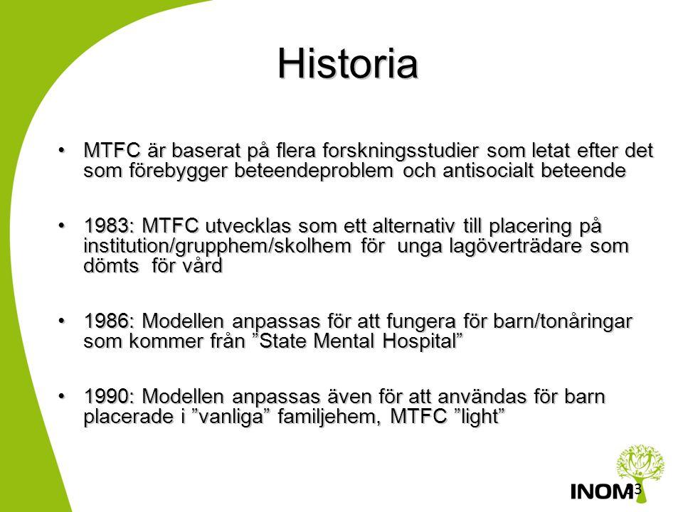 32 MTFC, A Sverige Certifierade siter: Familjeforum, Lund, Stockholm SIS, Hässleholm Magelungen Stockholm Under utbildning/handledning Västerås, INOM