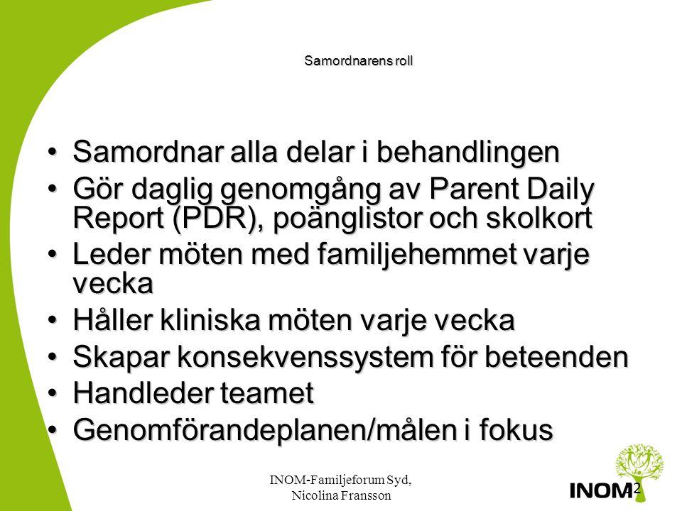 51 Teamets roller och samarbetspartners •Samordnare •Familjehem •Ungdomsterapeut •Skillstrainer/Färdighetstränare •Familjeterapeut •Familjehemskonsult