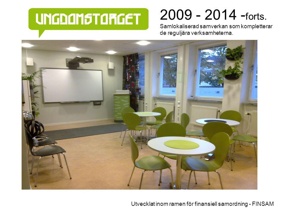 2009 - 2014 - forts. Samlokaliserad samverkan som kompletterar de reguljära verksamheterna. Utvecklat inom ramen för finansiell samordning - FINSAM