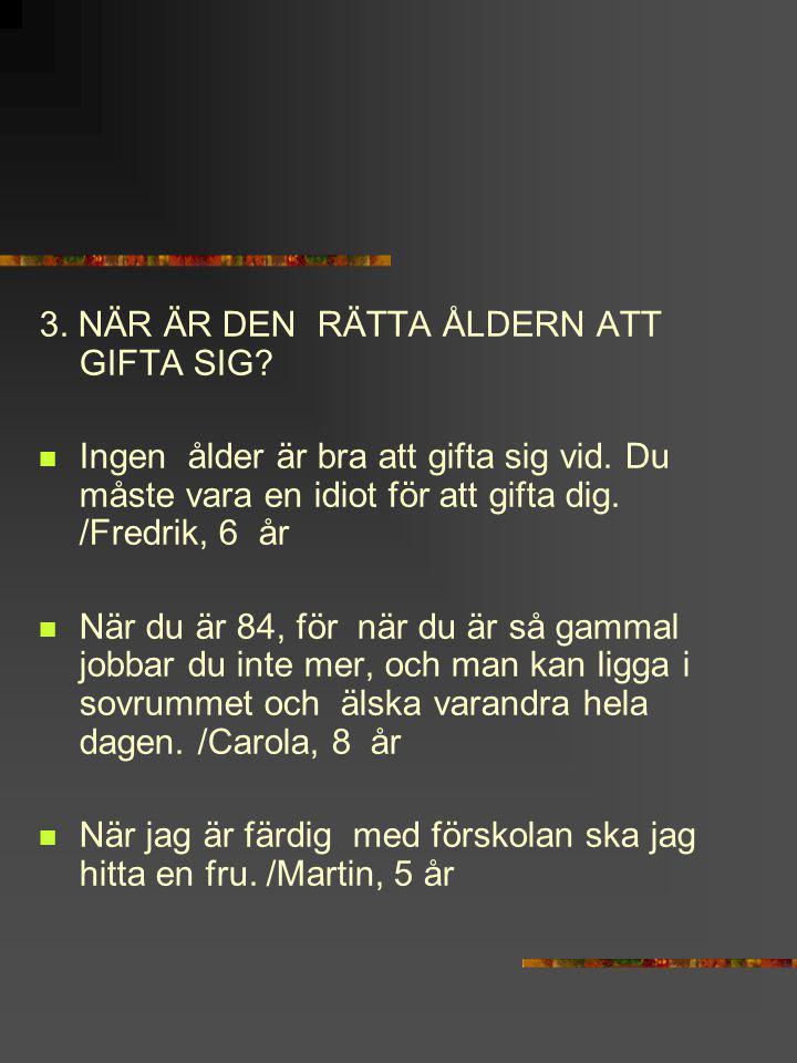 HUR KAN EN FRÄMLING SE OM TVÅ PERSONER ÄR GIFTA MED VARANDRA.