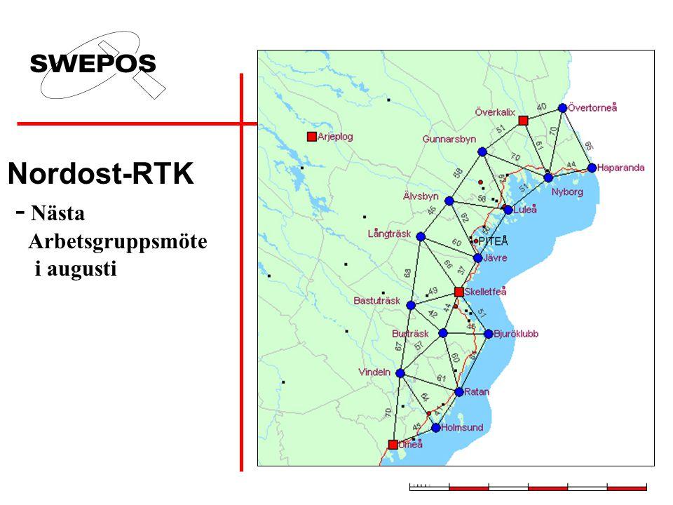 Nordost-RTK - Nästa Arbetsgruppsmöte i augusti