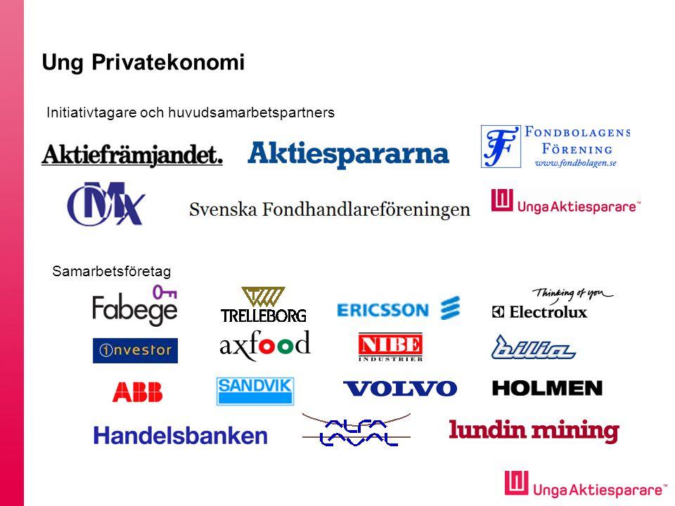 Ung Privatekonomi Initiativtagare och huvudsamarbetspartners Samarbetsföretag
