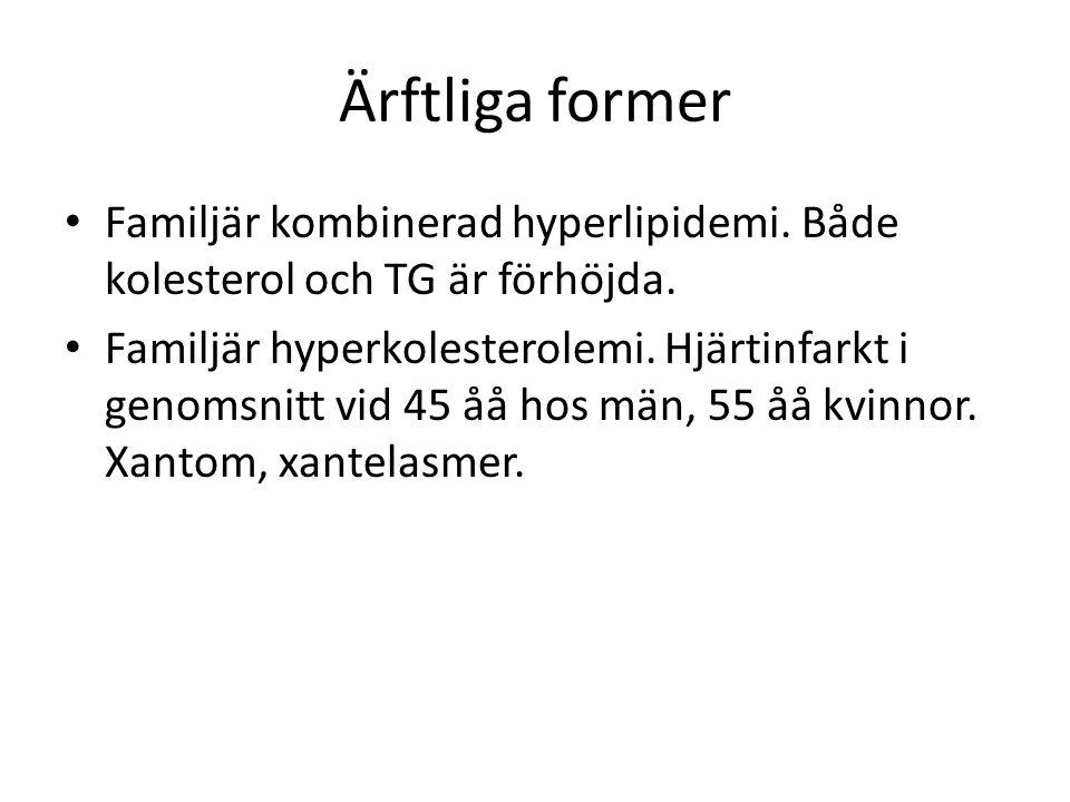 Källor • Läkemedelsboken • Allmänmedicin Steinar Hunskår, Birgitta Hovelius • www.viss.nu: Vårdprogram hyperlipidemi www.viss.nu • www.internetmedicin.se www.internetmedicin.se