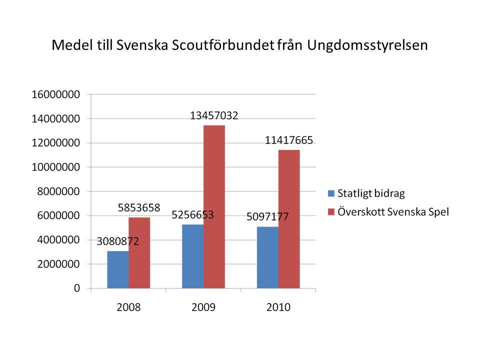 Medel till Svenska Scoutförbundet från Ungdomsstyrelsen