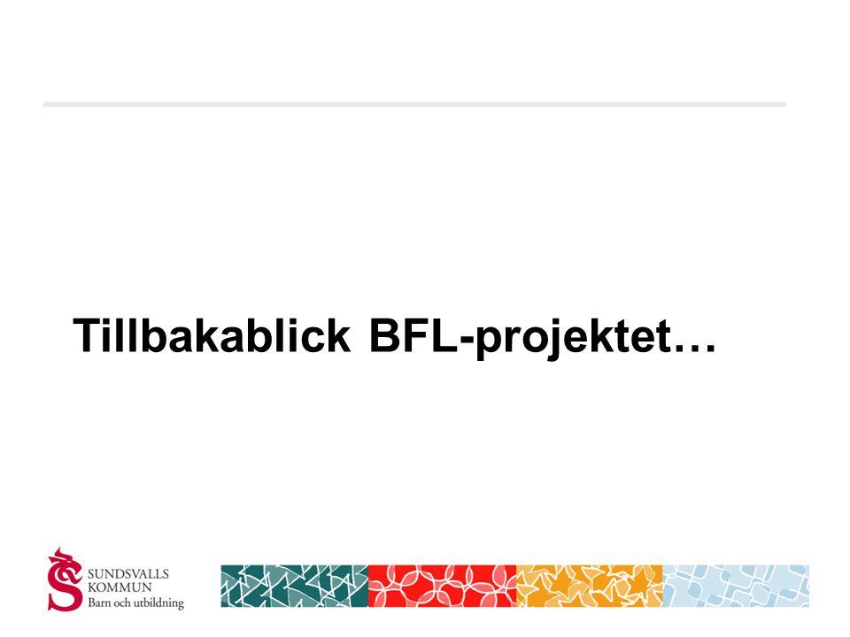 Tillbakablick BFL-projektet…