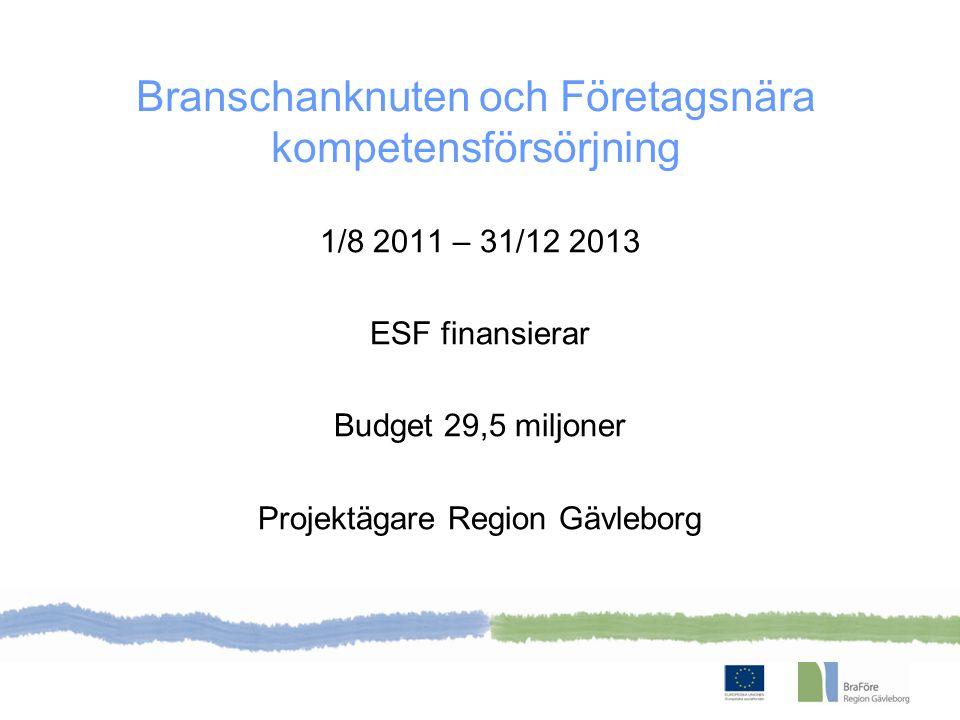 BraFöre omfattar Gävle- borgs läns kommuner + Älvkarleby kommun