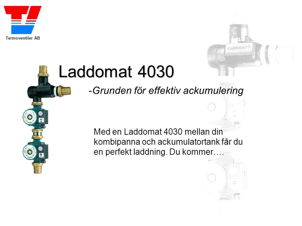 Termoventiler AB Laddomat 4030 -Grunden för effektiv ackumulering Med en Laddomat 4030 mellan din kombipanna och ackumulatortank får du en perfekt lad