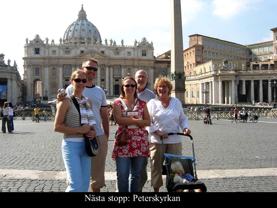 Nästa stopp: Peterskyrkan