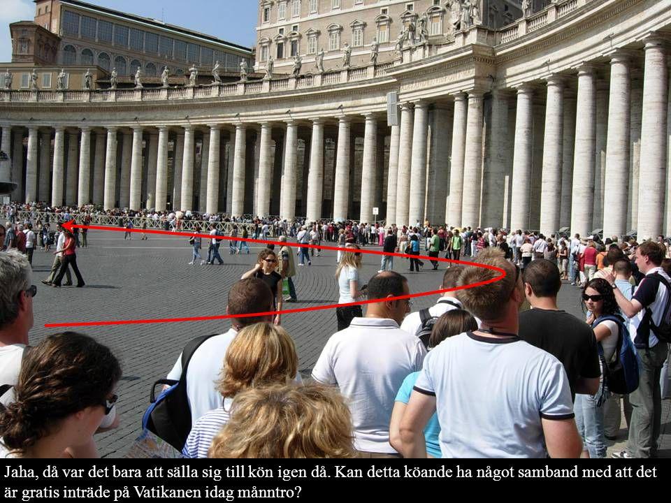 Jaha, då var det bara att sälla sig till kön igen då. Kan detta köande ha något samband med att det är gratis inträde på Vatikanen idag månntro?